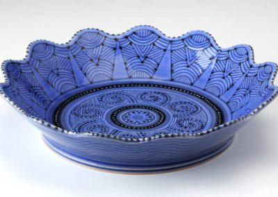 Blue flower bowl 2