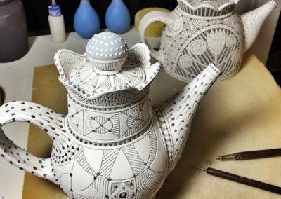 Teapots in progress